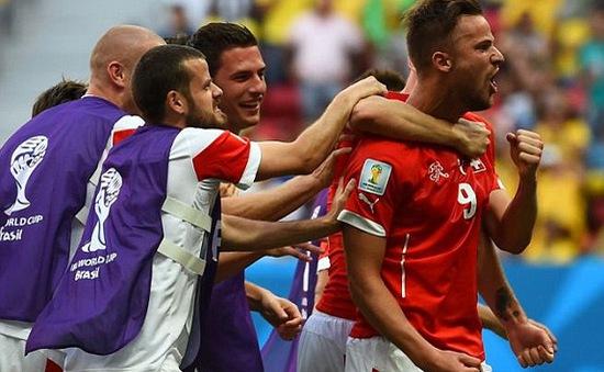 World Cup 2014, bảng E: Thuỵ Sĩ ngược dòng ngoạn mục trước Ecuador