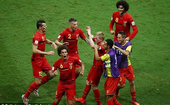 """Bỉ 2-1 Mỹ: """"Quỷ đỏ"""" châu Âu nghẹt thở giành vé vào Tứ kết"""