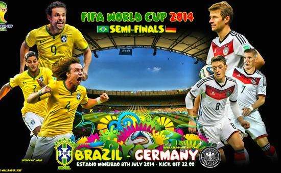 """Brazil - Đức: Samba loạn nhịp trước họng pháo """"Xe tăng""""? (3h00 ngày 9/7, VTV3)"""