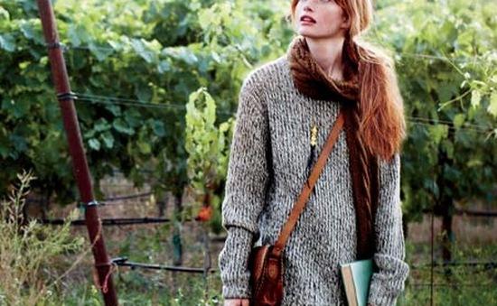 Cá tính với ao len phong cách Retro