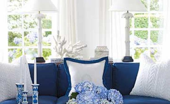 Trang trí phòng khách với gam màu nhạt