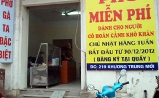 Hà Nội: Chuyện về quán phở miễn phí cho người khó khăn
