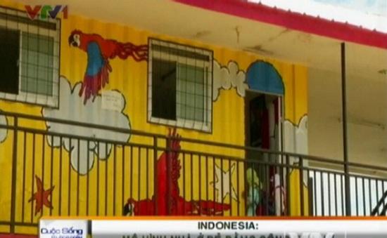 Độc đáo mô hình nhà ở giá rẻ bằng container tại Indonesia