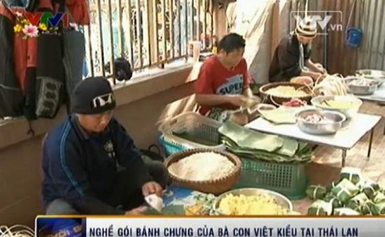 Nghề gói bánh chưng Việt Nam tại Thái Lan