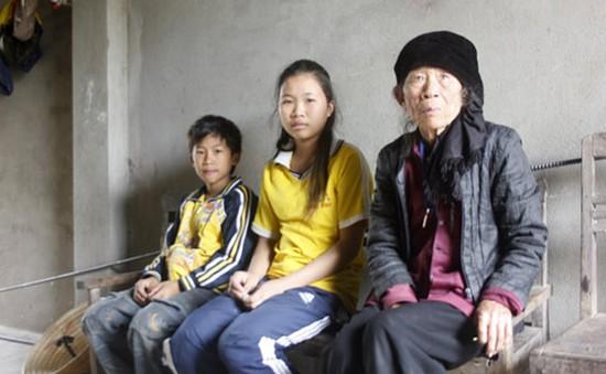 Cảnh đời cơ cực của bà cụ 80 tuổi nuôi hai cháu mồ côi