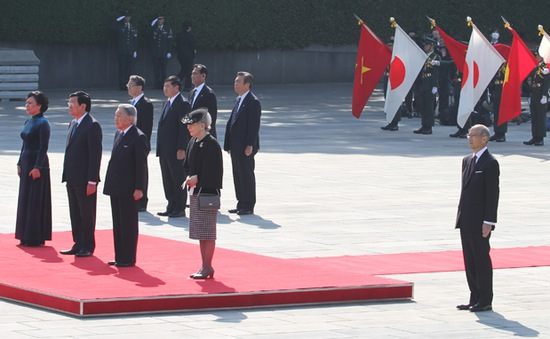 Chủ tịch nước hội kiến Nhà vua Nhật Bản