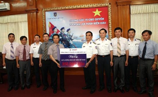 TCT Truyền tải điện QG ủng hộ lực lượng Cảnh sát biển và Kiểm ngư Việt Nam