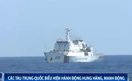 Cập nhật ngày 24/6: Tàu Trung Quốc biểu hiện hành động hung hăng, manh động