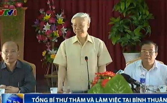 Tổng Bí thư thăm và làm việc tỉnh Bình Thuận