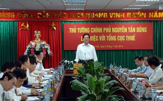 Thủ tướng Nguyễn Tấn Dũng làm việc với Tổng cục thuế