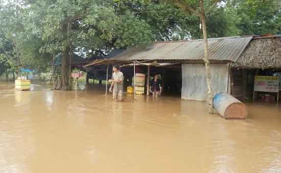 Tây Ninh: Lũ lụt gây ngập nhà dân
