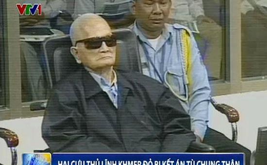 Hai cựu thủ lĩnh Khmer Đỏ bị kết án tù chung thân