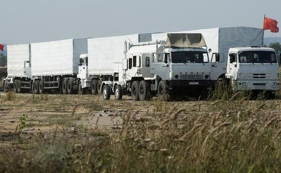 Lính biên phòng Ukraine sang Nga kiểm tra đoàn xe hàng cứu trợ