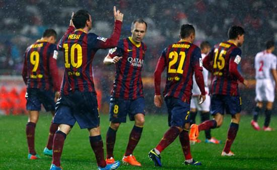Messi tỏa sáng, Barca tái chiếm ngôi đầu