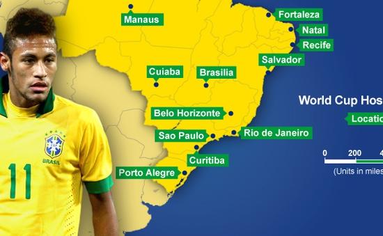 Đến miền Nam Brazil xem World Cup 2014 cần mang áo rét
