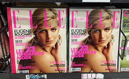 Bouchard xinh đẹp trên bìa tạp chí Elle số đặc biệt