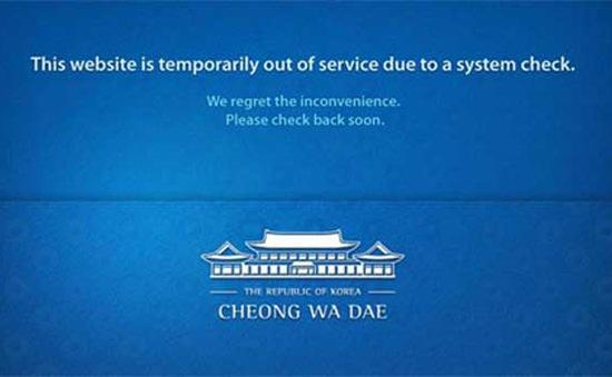 Nhiều trang web chính phủ Hàn Quốc tê liệt vì tin tặc