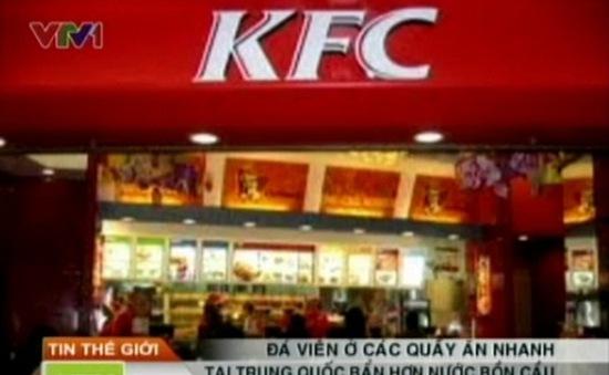KFC Trung Quốc bán đá viên bẩn hơn… nước bồn cầu