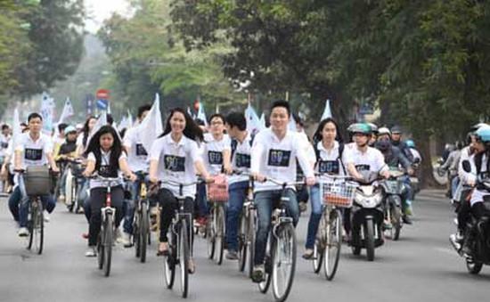 Thành Đoàn Hà Nội tổ chức đạp xe hưởng ứng Giờ Trái đất