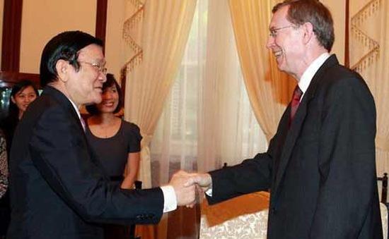 Chủ tịch nước Trương Tấn Sang tiếp Đại sứ Na Uy chào từ biệt