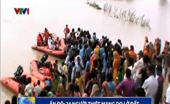 Ấn Độ: Lở đất khiến 24 người thiệt mạng