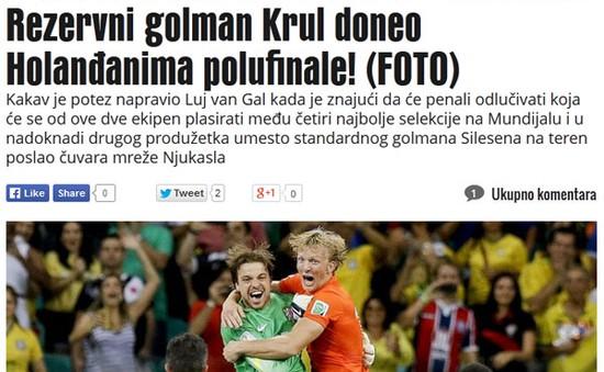 """Báo chí châu Âu ca ngợi Van Gaal là """"thiên tài"""""""