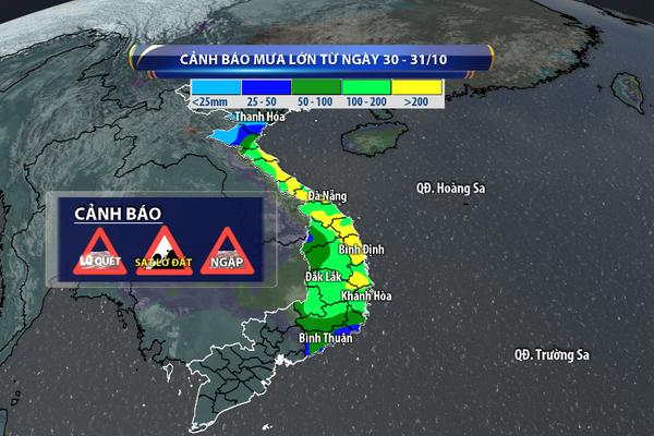 Áp thấp nhiệt đới mạnh lên thành bão, Trung bộ mưa lũ lớn