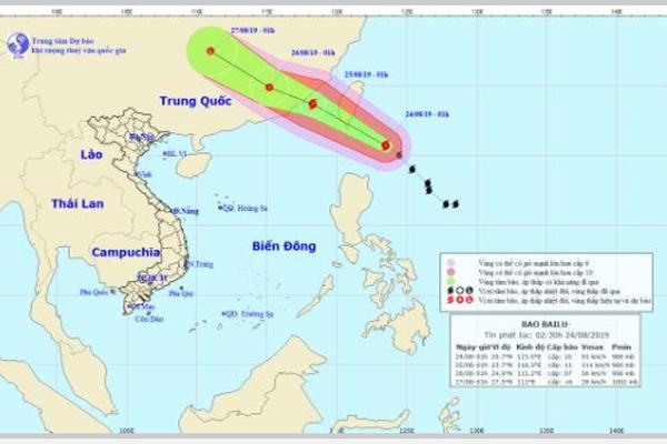 Bão Bailu giật cấp 12, Trung Bộ mưa lớn đến ngày 25/8