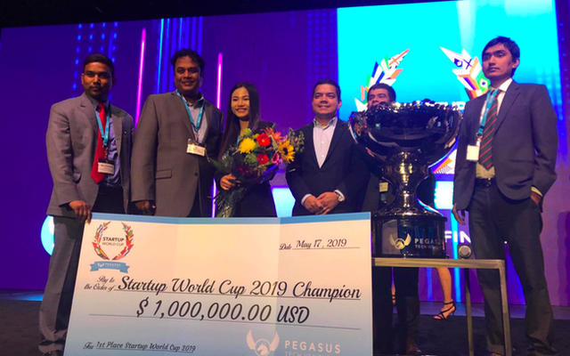 Vietnamese startup wins one million USD at 2019 World Cup