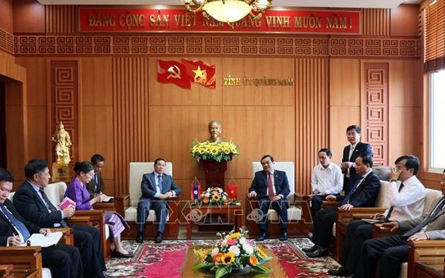 Quang Nam, Laos' southern localities promote cooperation
