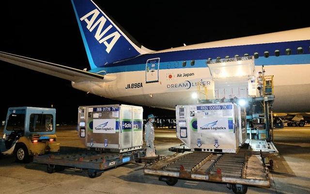 Gần 1 triệu liều vaccine Nhật Bản tặng Việt Nam tới Sân bay Quốc tế Nội Bài