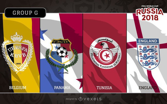 Lịch tường thuật trực tiếp FIFA World Cup™ 2018, bảng G: Bỉ, Panama, Tunisia và Anh