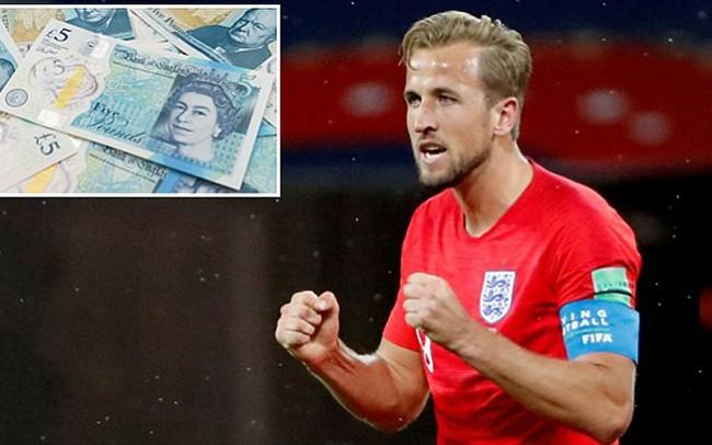 Hình đội trưởng Anh Harry Kane sẽ được in trên tờ tiền 5 Bảng Anh