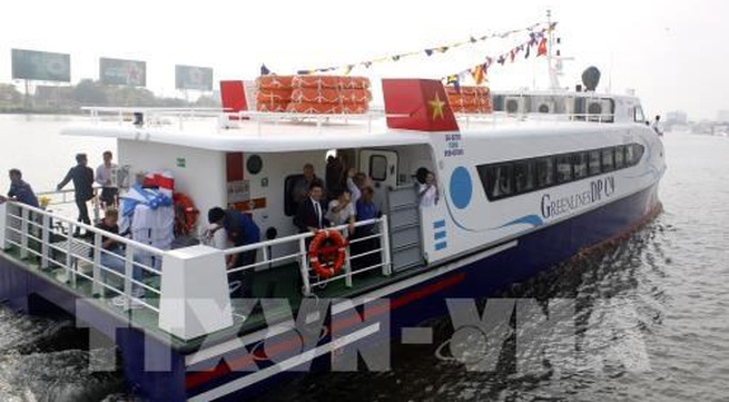 High-speed boat service opens on HCM City - Can Gio - Vung Tau route