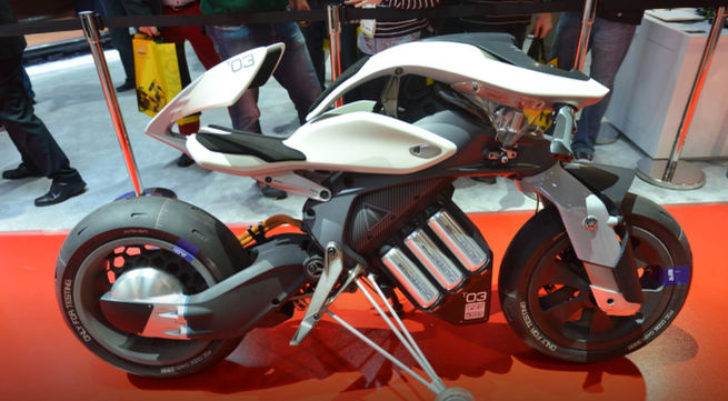 Autonomous and robot-driven motorcycles are presented CES 2018