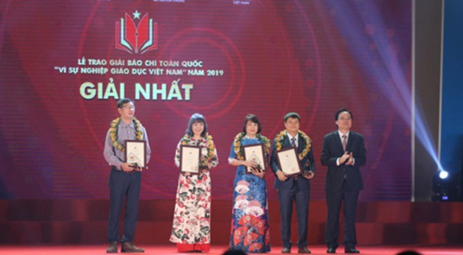 VTV won four national press awards 'For Vietnam's Education Cause 2019'