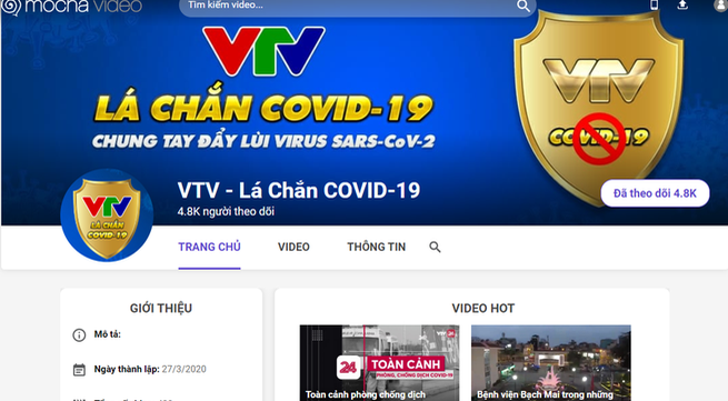 Launch of VTV's new theme channel on the COVID-19 pandemic