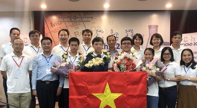 Vietnam wins 4 golds in International Chemistry Olympiads