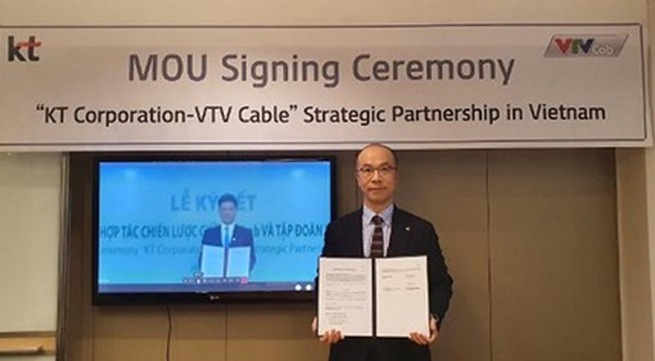 Korean telecom giant shakes hands with VTVcab to develop music streaming service