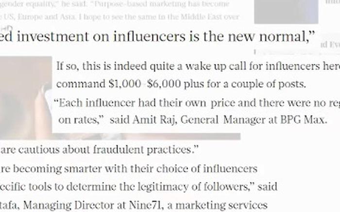 Mặt trái của quảng cáo qua người nổi tiếng trên mạng xã hội