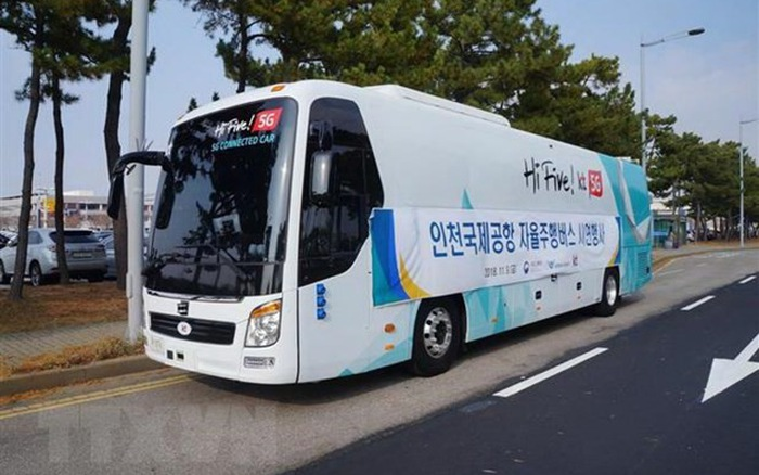 Hàn Quốc thử nghiệm xe bus tự lái sử dụng mạng 5G
