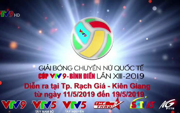 Lịch tường thuật trực tiếp giải bóng chuyền nữ Quốc tế Cúp VTV9 Bình Điền 2019