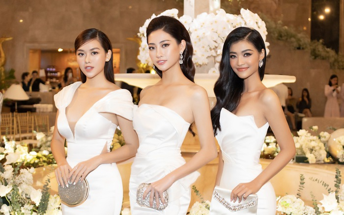Lương Thùy Linh, Tường San, Kiều Loan đọ sắc trong váy trắng nuột nà