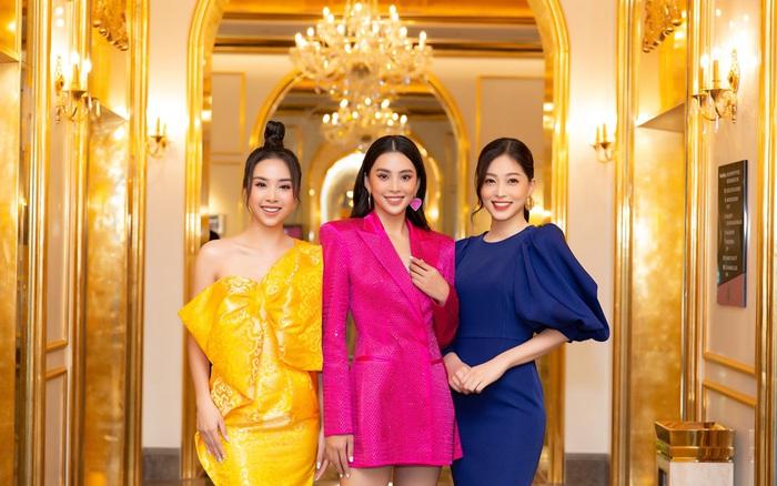 Dàn Hoa Á hậu diện đồ sặc sỡ tại họp báo Bán kết Hoa Hậu Việt Nam 2020