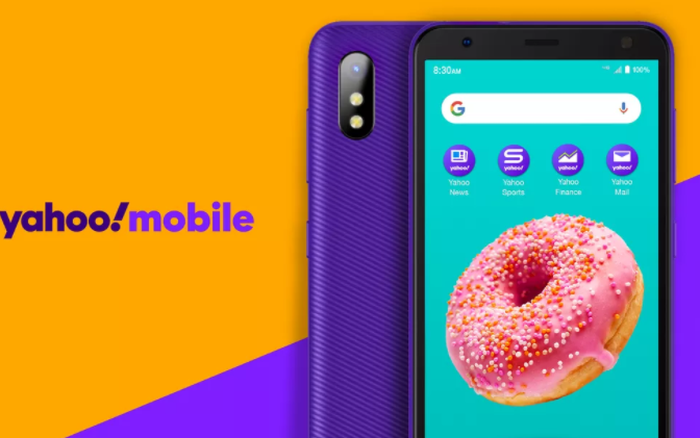 Yahoo! bất ngờ ra mắt smartphone màu tím giá rẻ