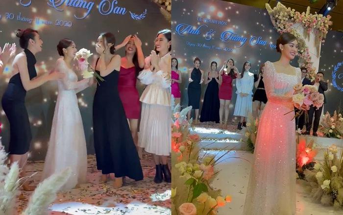 Đám cưới Tường San: Dàn Hoa hậu quy tụ, Đỗ Mỹ Linh bắt được hoa cưới