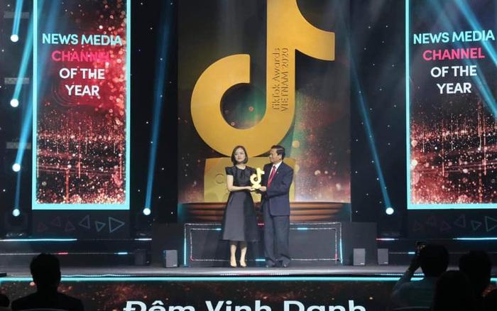 vtv24news được vinh danh Kênh thông tin của năm 2020 trên TikTok