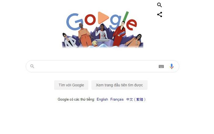 Google chào mừng ngày quốc tế phụ nữ 8/3 với doodle mới
