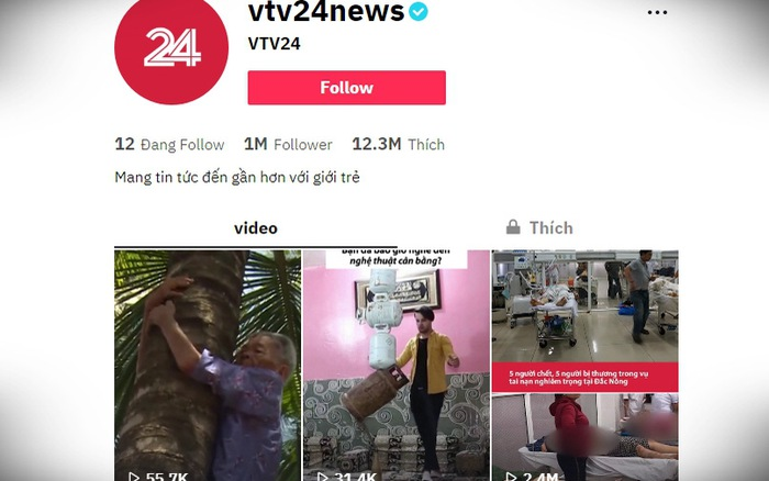 "TikTok vtv24news - ""Vựa muối"" của VTV Digital cán mốc 1 triệu người theo dõi"