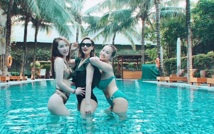 Lã Thanh Huyền, Vân Hugo và Quỳnh Nga khoe ảnh bikini nóng bỏng